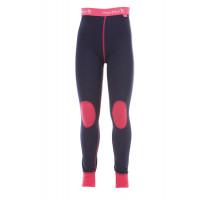 Matso Kids Pants 100% Merino Hot Pink/Twilight Blue