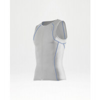 2XU G:2 Active Tri Singlet Men's White/Cobalt Blue