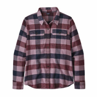 Patagonia W L/S Fjord Flannel Shirt Upriver: Light Balsamic