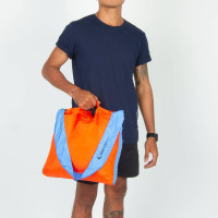 Ticket To The Moon Eco Market Bag Orange/Light Bl 46 x 42 cm