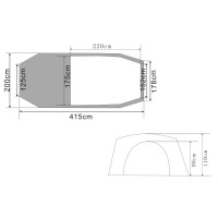Urberg 3-Person Tunnelt Tent G5 Sunflower