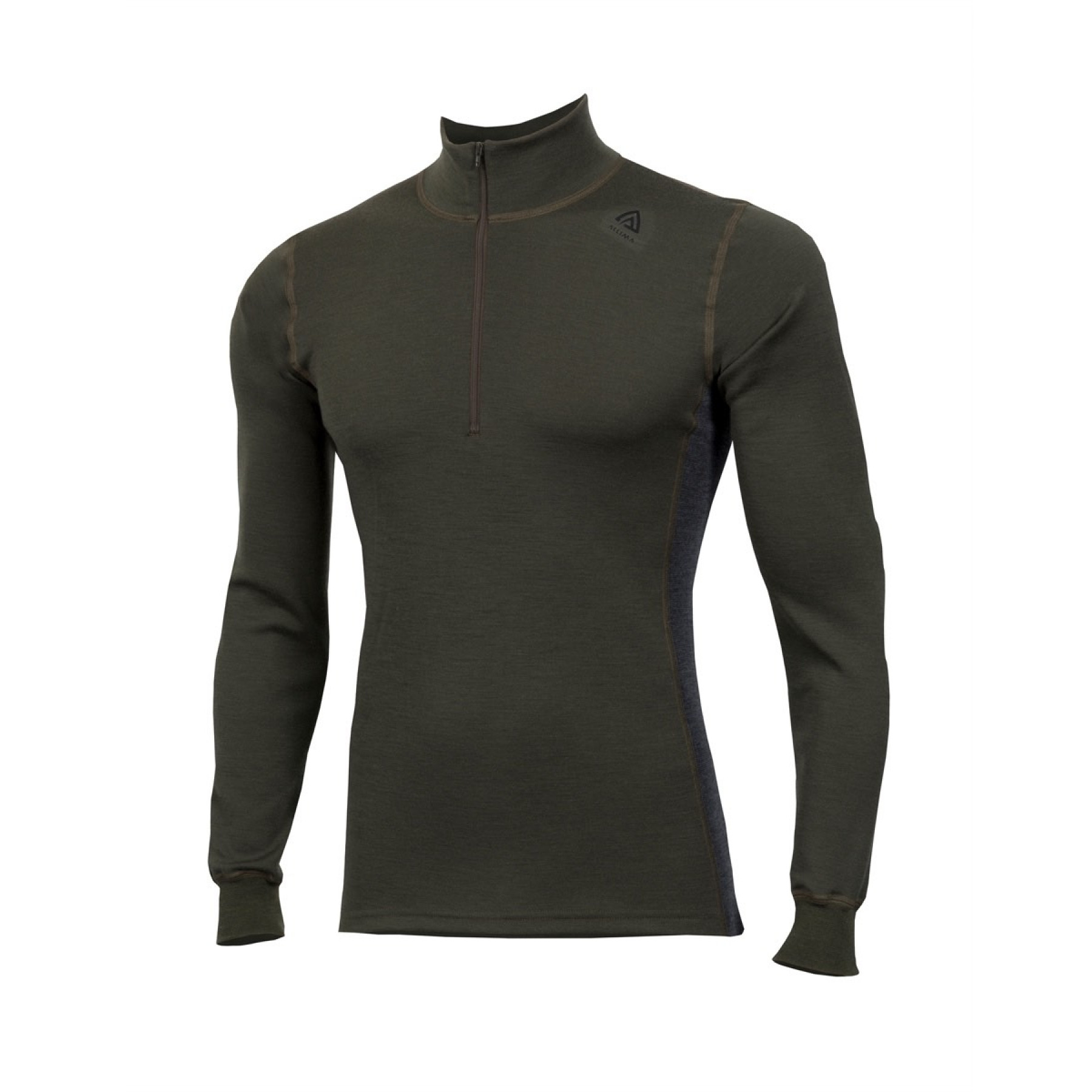 e1dc2232 Aclima Warmwool Mock Neck Shirt, M Olive Night/Marengo | Tindeberg.se