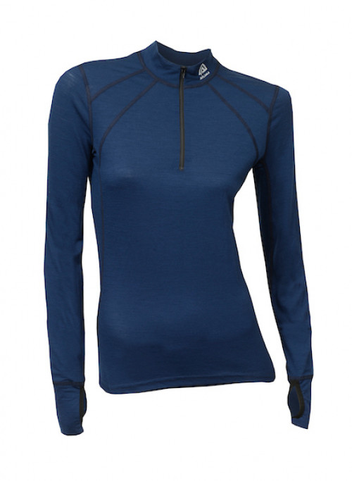 Aclima Lightwool Zip Shirt, Women Insignia Blue