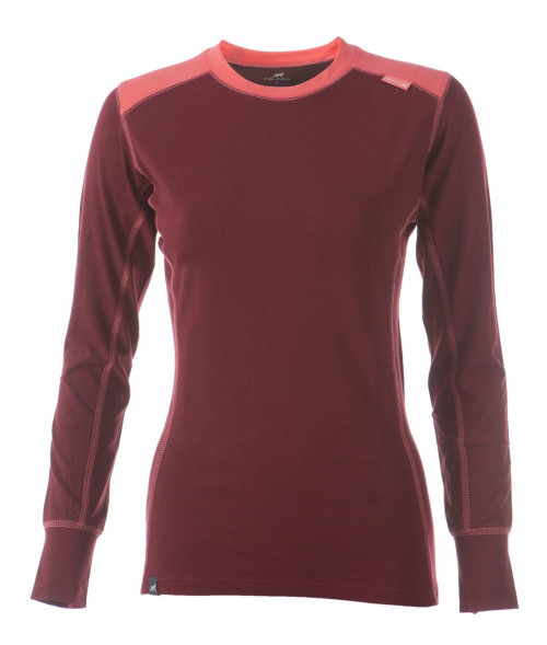 Felines W's LS BambCotton Tawny Port/Hot Coral