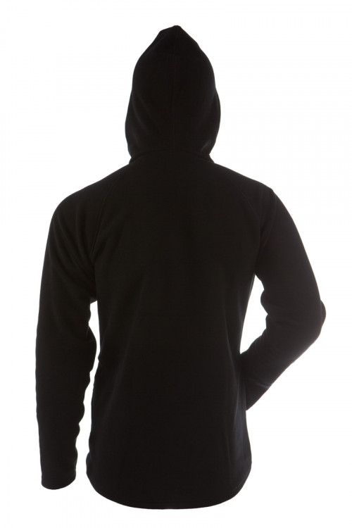 Gridarmor M's Fleece Afternoon Hoodie 1/1 Zipper Black Beauty & Dark Shadow Zipper