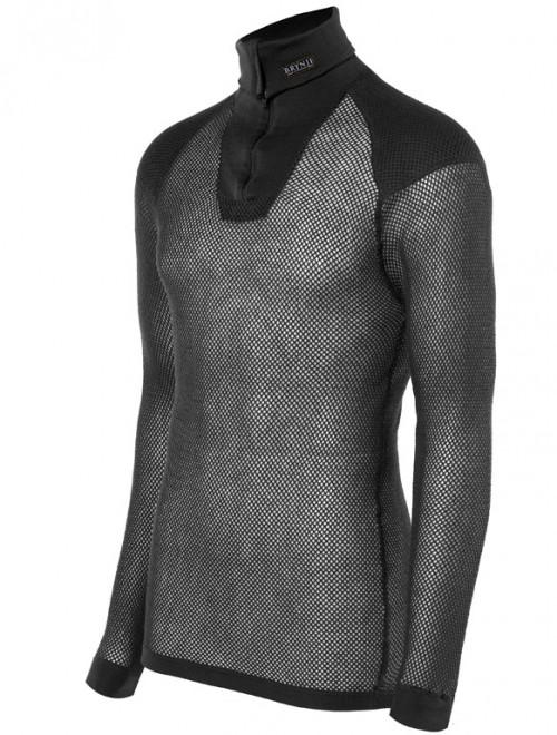 Brynje Wool Thermo Zip Polo w/inlay Black