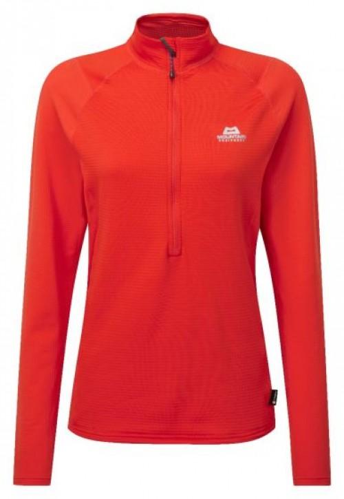 Mountain Equipment Eclipse Women's Zip T Cardinal Orange