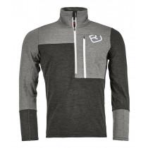 Ortovox Fleece Light Zip Neck Men's Grey Blend