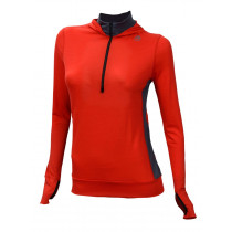 Aclima Lightwool Hoodie Woman High Risk Red/Iron Gate