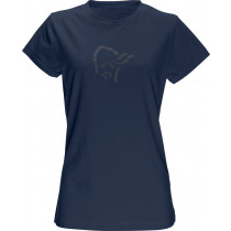 Norrøna /29 Cotton Logo T-Shirt (W) Indigo Night