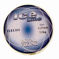 Royal Viking Ice Röd Lina 0,14mm 50 m 2,0kg