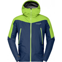 Norrøna Falketind Gore-Tex Jacket Men's Indigo Night / Birch Green