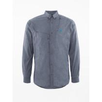 Klättermusen Lofn Shirt M's Storm Blue Melange