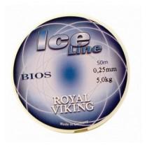 Royal Viking Ice Röd Lina 0,35mm 50m 8,9kg