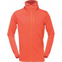 Norrøna Trollveggen Warm/Wool1 Zip Hoodie (M) Burnt Orange