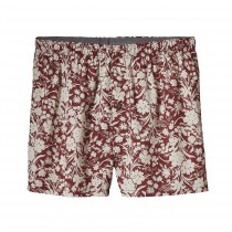 Patagonia Men's Go-To Boxers Free Lei: Drumfire Red/Birch White