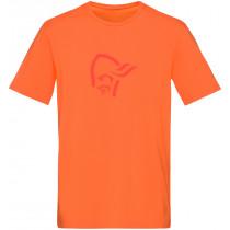 Norrøna /29 Cotton Logo T- Shirt (M) Scarlet Ibis