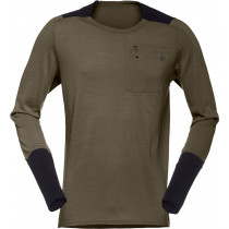 Norrøna Skibotn Wool Equaliser Long Sleeve Men's Dark Olive