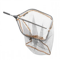 Savage Gear Pro Tele Folding Rubber Large Mesh Landing Net XL (70x85cm)