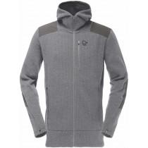 Norrøna Tamok Warm/Wool2 Zip Hood (M) Grey