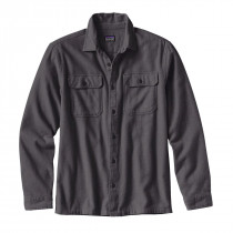 Patagonia M's L/S Fjord Flannel Shirt Forge Grey