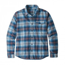 Patagonia M Lw Fjord Flannel Shirt Bad Ombre: Lumi Blue