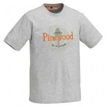 Pinewood T-Shirt Outdoor Grey Melange