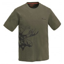 Pinewood T-Shirt Moose Khaki Green
