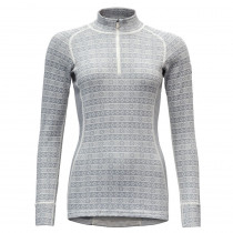 Devold Alnes Woman Half Zip Neck Grey