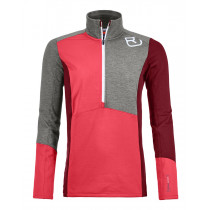 Ortovox Fleece Light Zip Neck Women's Hot Coral