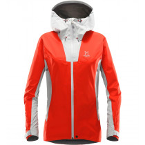 Haglöfs Kabi (K2) Jacket Women Stone Grey/Pop Red