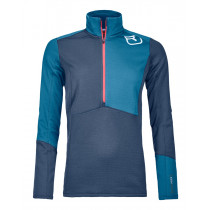 Ortovox Fleece Light Zip Neck W Night Blue