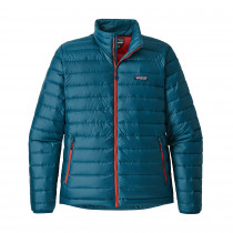 Patagonia Men's Down Sweater Big Sur Blue W/Fire Red