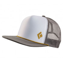 Black Diamond Flat Bill Trucker Hat Granite-White