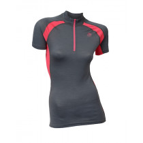 Aclima Lightwool Speed Shirt, Women Iron Gate/Raspberry