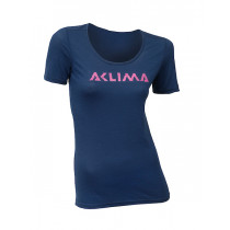 Aclima Lightwool T-Shirt Logo, Women Insignia Blue