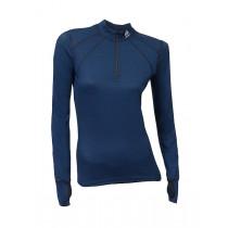 Aclima Lightwool Zip Shirt, Women Insignia Blue