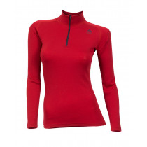 Aclima Warmwool Mock Neck Shirt, Women's Tango Red