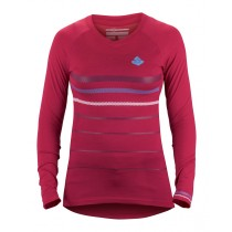 Sweet Protection Badlands Merino LS Jersey Womens Rubus Red