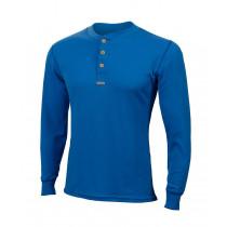 Aclima Warmwool Granddad Shirt Man Brilliant Blue