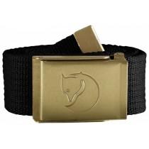 Fjällräven Canvas Brass Belt 4 cm Black