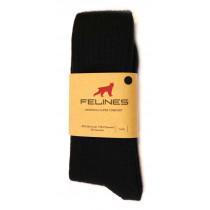 Felines Merinoull Strumpor Komfort 1-Pack Svart