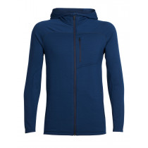 Icebreaker Men's Mt Elliot Longsleeve Hood Largo/Midnight Navy