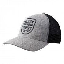Black Diamond Bd Trucker Hat Heathered Aluminum-Black