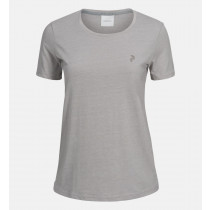 Peak Performance Women's Track Tee Med Grey Mel