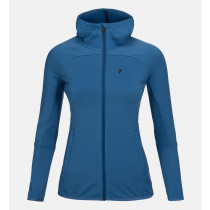 Peak Performance Women's Ace Hood Zip Stream Blue