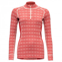 Devold Alnes Woman Half Zip Neck Chilli