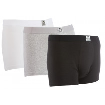 Gridarmor Boxer Bamboo/Cotton 3pk Black/Grey Melange/White