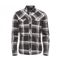 Black Diamond M LS Technician Shirt Smoke-Ash Plaid