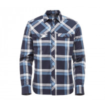 Black Diamond M LS Technician Shirt Captain-Blue Steel Plaid